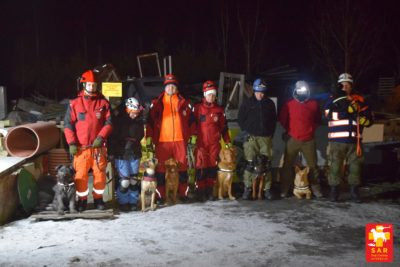 SAR Dog Training WYSOKI pozorant