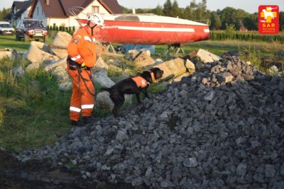 Search and Rescue Dog Treining – osuwisko kamienne.