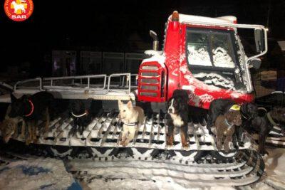 SAR DT – Gruzowisko śnieżne.